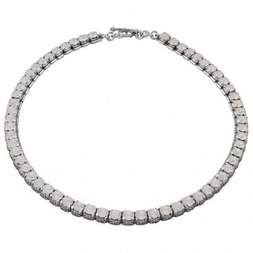 K256 ~ Sterling Silver and Swarovski - Medieval Byzantine Necklace