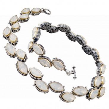 K257 ~ Sterling Silver and Swarovski - Medieval Byzantine Necklace