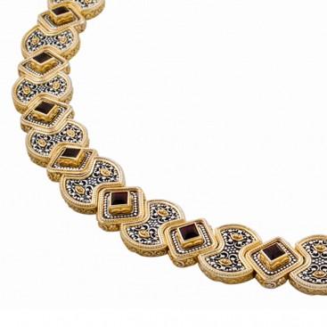 K273 ~ Sterling Silver and Swarovski - Medieval Byzantine Necklace