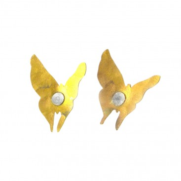 Giampouras 5048 - Anodized Colored Titanium Butterfly Earrings
