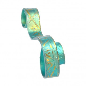 Giampouras 5099 ~ Anodized Colored Titanium Ribbon Pendant