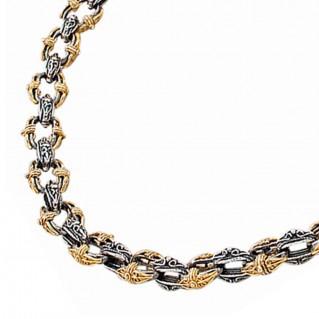 K275 ~ Sterling Silver Medieval Byzantine Choker Chain Necklace