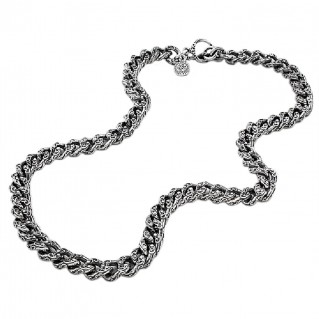 K276 ~ Sterling Silver Medieval Byzantine Chain Necklace
