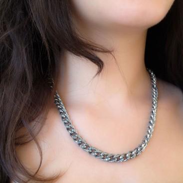 K276 ~ Sterling Silver Medieval Byzantine Chain Necklace
