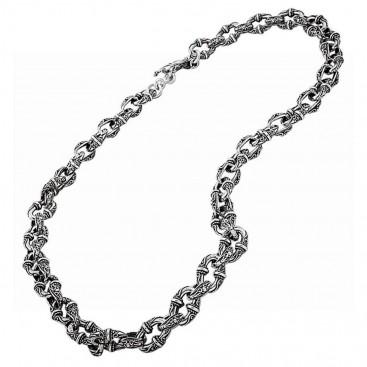 K286 ~ Sterling Silver Medieval Byzantine Necklace
