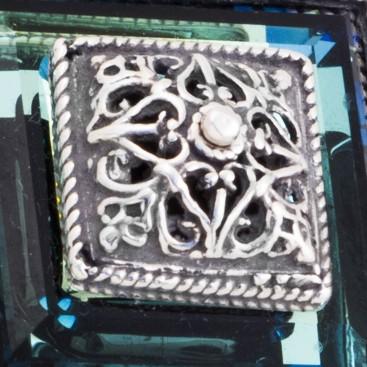 M175 ~ Sterling Silver and Swarovski - Medieval Byzantine Pendant Necklace