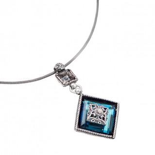 M176 ~ Sterling Silver and Swarovski - Medieval Byzantine Pendant Necklace