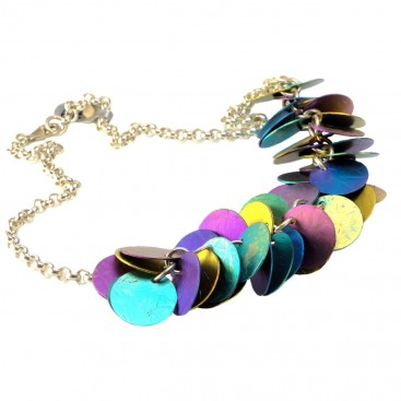 Giampouras 50051 ~ Anodized Colored Titanium Necklace
