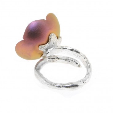 Giampouras 50322 ~ Anodized Colored Titanium Flower Ring