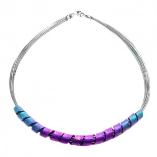 Giampouras 5040~ Anodized Colored Titanium Necklace