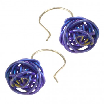 Giampouras 5013 ~ Anodized Colored Titanium Hook Earrings
