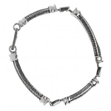 Savati 269 - Sterling Silver Byzantine Men's Link Bracelet