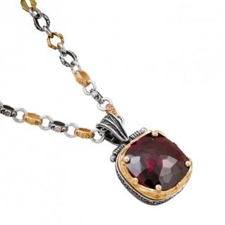 M201 ~ Sterling Silver and Swarovski - Medieval Byzantine Pendant Necklace