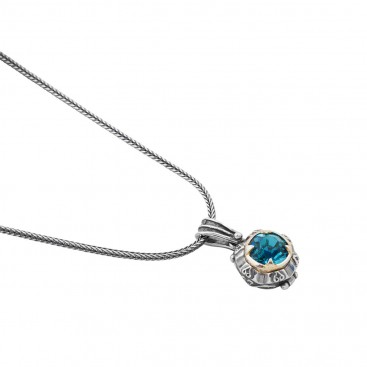 M204 ~ Sterling Silver and Swarovski - Medieval Byzantine Pendant Necklace