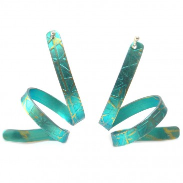 Giampouras 5060 - Anodized Colored Titanium Long Earrings