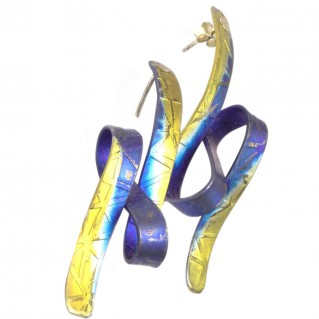 Giampouras 5100 - Anodized Colored Titanium Long Earrings