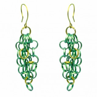 Giampouras 5001 ~ Anodized Colored Titanium Long Earrings