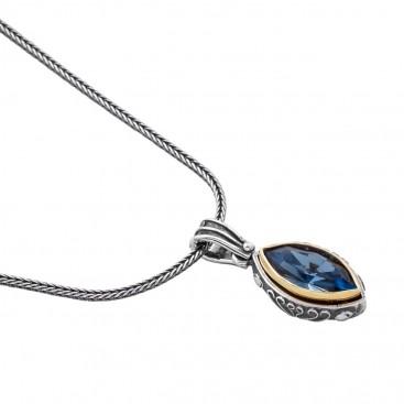 M220 ~ Sterling Silver and Swarovski - Medieval Byzantine Pendant Necklace