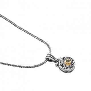 M230 ~ Sterling Silver and Swarovski - Medieval Byzantine Small Pendant Necklace