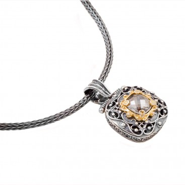 M231 ~ Sterling Silver and Swarovski - Medieval Byzantine Pendant Necklace