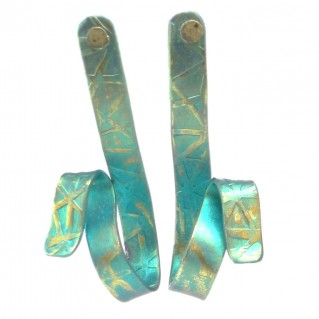 Giampouras 5098 - Anodized Colored Titanium Long Earrings