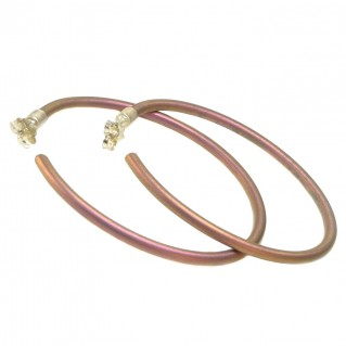 Giampouras 50713 ~ Anodized Colored Titanium Open Hoop Earrings