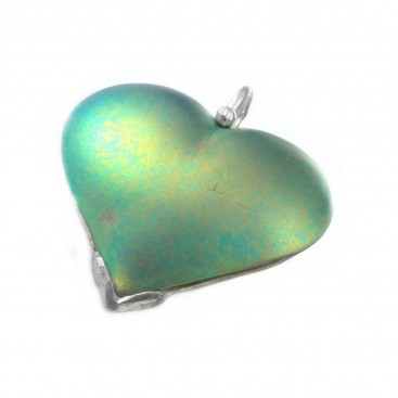 Giampouras 5017 ~ Anodized Colored Titanium Heart Pendant