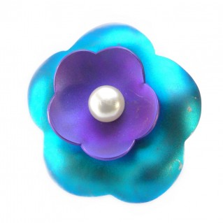 Giampouras 5008 ~ Anodized Colored Titanium Flower Ring