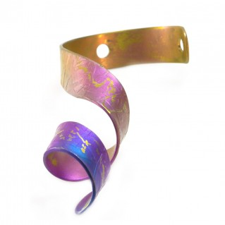 Giampouras 5093 ~ Anodized Colored Titanium Ribbon Pendant