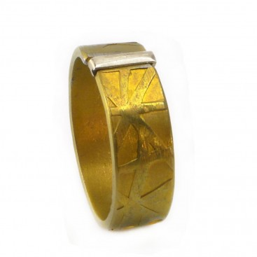 Giampouras 5069 ~ Anodized Colored Titanium Band Ring