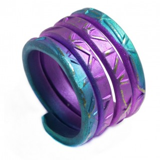 Giampouras 5070 ~ Anodized Colored Titanium 4-coil Ring