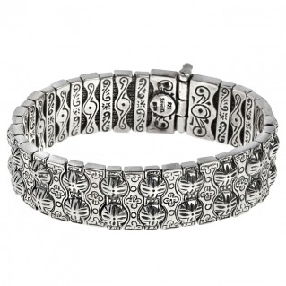 Savati 268 ~ Sterling Silver Byzantine Soft Bangle Bracelet