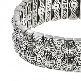 Savati 268 ~ Sterling Silver Byzantine Soft Bangle Bracelet