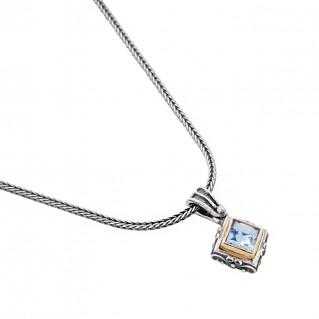 M237 ~ Sterling Silver and Swarovski - Medieval Byzantine Pendant Necklace