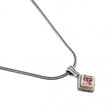 M237 ~ Sterling Silver and Swarovski - Medieval Byzantine Pendant Necklace
