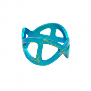 Giampouras 5373 ~ Anodized Colored Titanium Band Ring