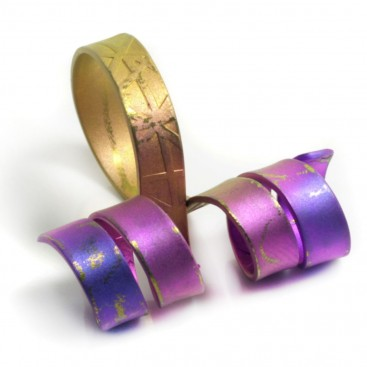 Giampouras 5094 ~ Anodized Colored Titanium Wrap Ring