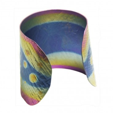 Giampouras 5050 - Anodized Colored Titanium Large Cuff Bracelet