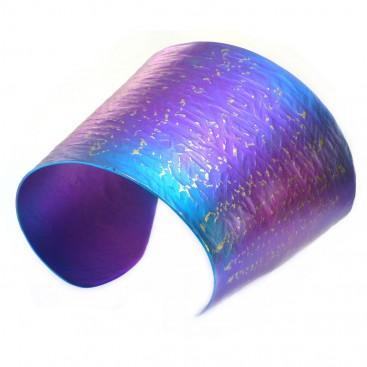 Giampouras 5050 - Anodized Colored Titanium Large Cuff Bracelet