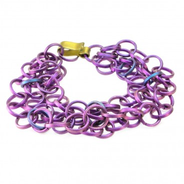 Giampouras 5001 ~ Anodized Colored Titanium Bracelet