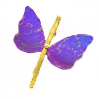 Giampouras 50371 ~ Anodized Colored Titanium Butterfly Pendant
