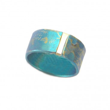 Giampouras 5068 ~ Anodized Colored Titanium Band Ring