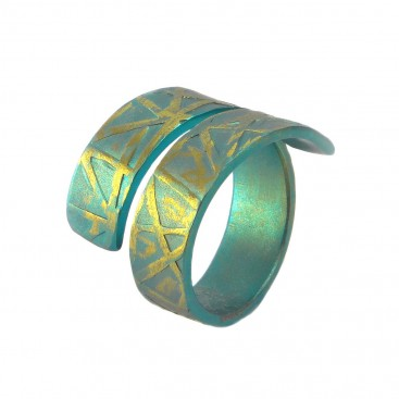 Giampouras 5086 ~ Anodized Colored Titanium Wrap Ring