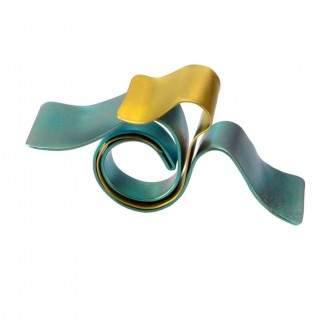 Giampouras 50642 ~ Anodized Colored Titanium Wrap Ring