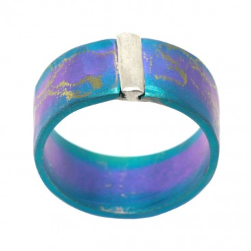 Giampouras 5067 ~ Anodized Colored Titanium Band Ring