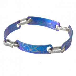 Giampouras 5030 ~ Anodized Colored Titanium Link Bracelet