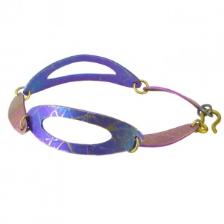 Giampouras 5026 ~ Anodized Colored Titanium Link Bracelet