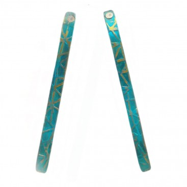 Giampouras 5040 - Anodized Colored Titanium Long Earrings