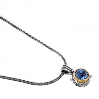 M241 ~ Sterling Silver and Swarovski - Medieval Byzantine Pendant Necklace