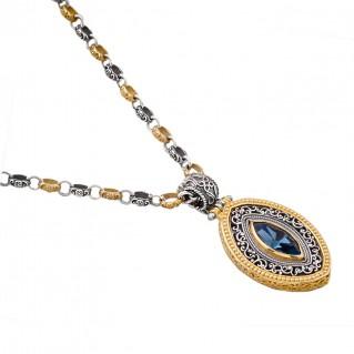 M253 ~ Sterling Silver and Swarovski - Medieval Byzantine Pendant Necklace